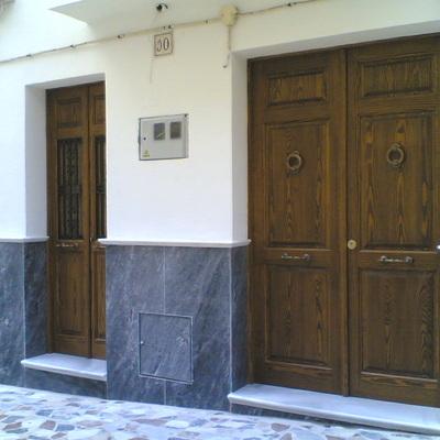 Puertas pareadas.