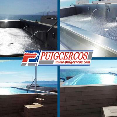 Filtración y depuración para piscina de acero.