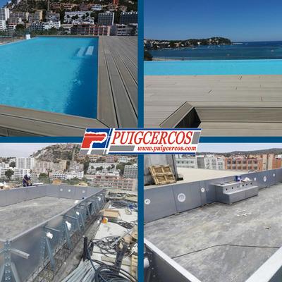 Piscina de acero y liner para ático en Palma de Mallorca