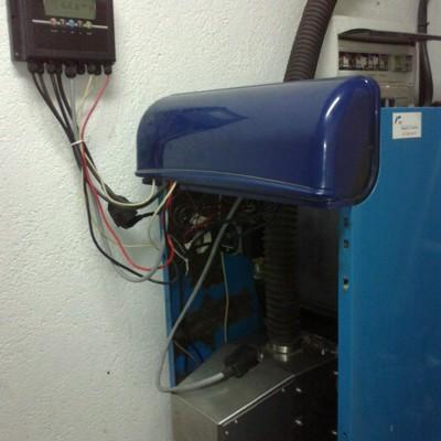 Quemador de biomasa en caldera de gasoil FER GGNK30