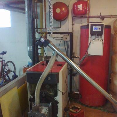 Quemador de biomasa en caldera de gasoil Roca NG050