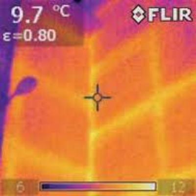 Termografía de fachada medianera