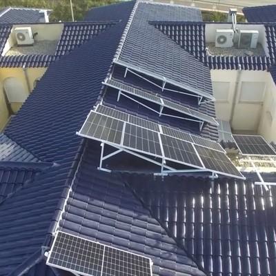 Instalación aislada a vista de dron en Torres de Cotillas, Murcia