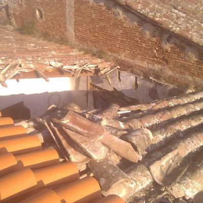 Realización de cubierta, masia en Argentona.