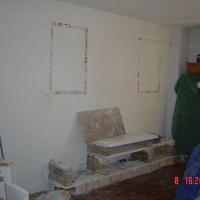 realización de mural de escayola