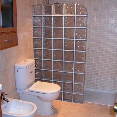 Reforma baño con pavés.