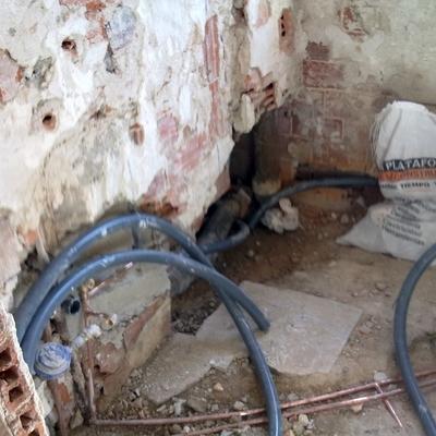 Reforma baño - sustitución fontaneria