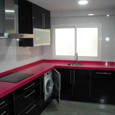 Reforma cocina, muebles en negro