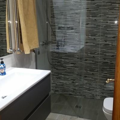 Ducha obra al ras de suelo, Reforma baño