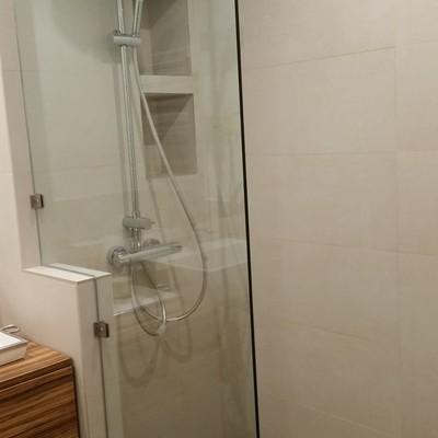 Reforma baño Galapagar, Ducha de obra