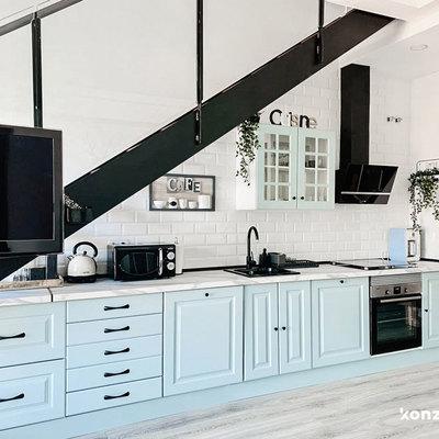 Cocina con muebles bajos