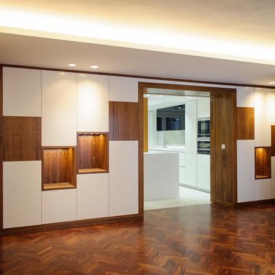 Diseño armario salón - paso a cocina