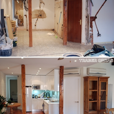 Año 2010. Reforma integral de vivienda por Traber Obras. Madrid, barrio Chueca.