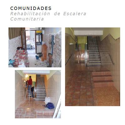 Rehabilitacion de escalera comunitaria
