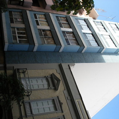 """rehabilitación de fachada en Leon y castillo""""Edificio azul"""""""