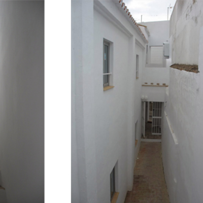 Rehabilitación de tres viviendas en Carmona. Sevilla.