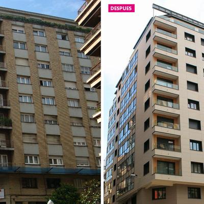 Rehabilitación mediante sistema Fachada Ventilada y SATE y Refuerzo Estructural Edificio Cl. Donato Argüelles, 8 - Gijón