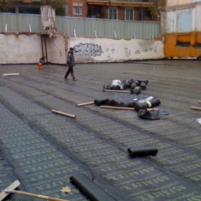 Rehabilitación parking con làmina asfaltica.