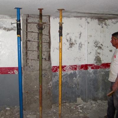 Rehabilitación y pintura de garaje.