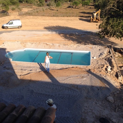 Rellenado piscina