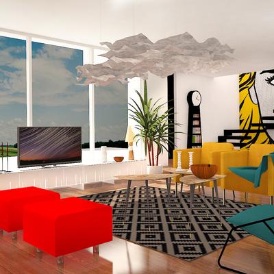 Decoración Salón con mobiliario de IKEA
