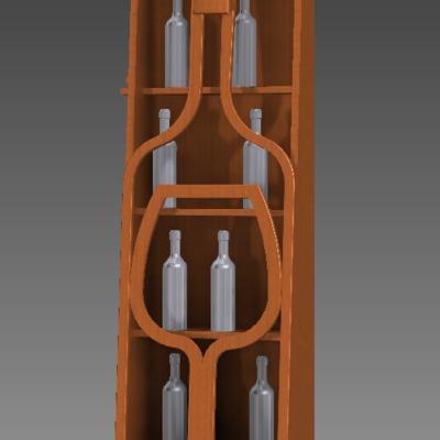 Botellero diseño de El Sitio del Carpintero