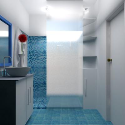 Render diseño de baño 2