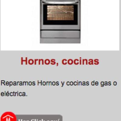 REPARACION DE HORNOS Y COCINAS