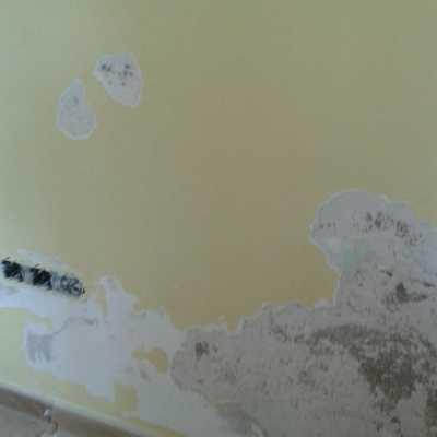 Reparacion de humedad en paredes. Como estaba