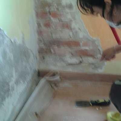 Reparacion de humedad en paredes. Inicio de los trabajos