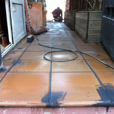 Reparación humedades en terraza