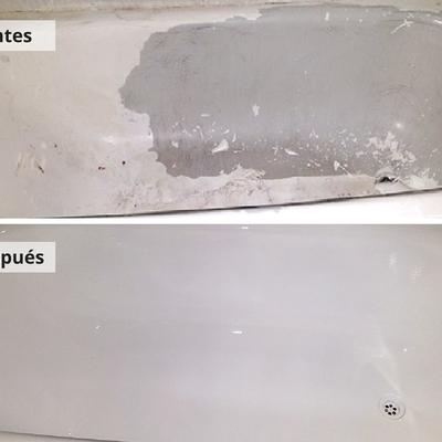 Restauración de bañera mediante esmaltado