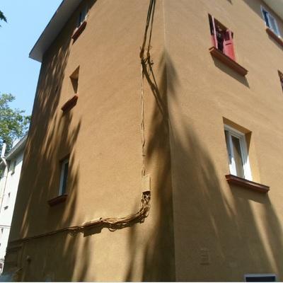 Restauración de fachada con corcho preyectado
