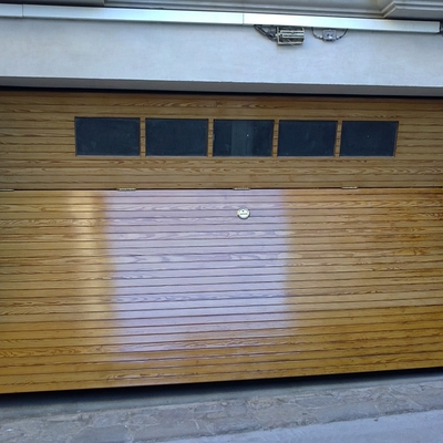 restauración de maderas en exteriores , después