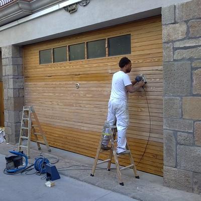 restauración de maderas en exteriores