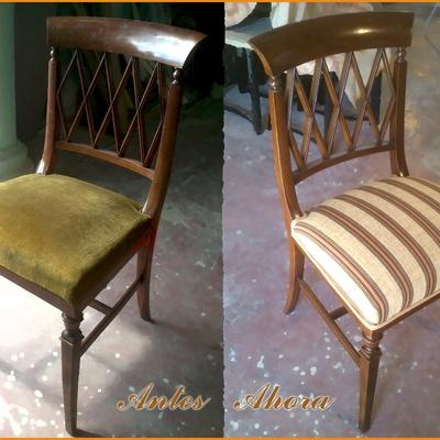 Restauración de silla