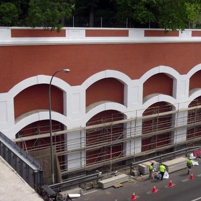 restauración del puente de la CEA