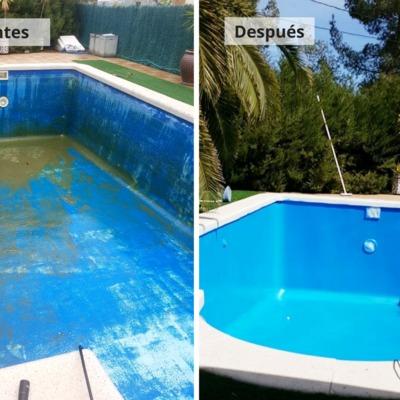Reforma y limpieza de piscina