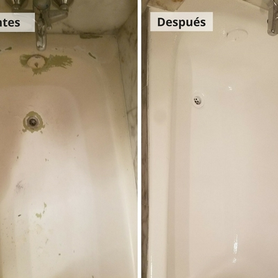 Restauración de bañera mediante esmaltados