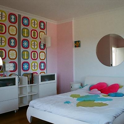 Revestimiento de pared con papel decorativo
