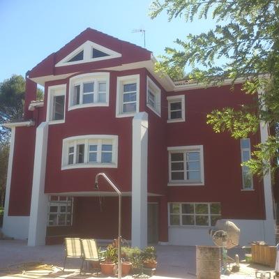 revestimiento fachada vivienda particular