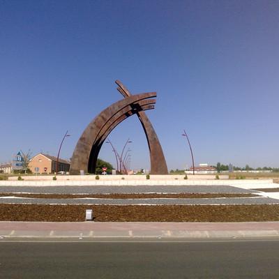 Rotonda de entrada en Azuqueca
