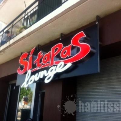 rotulación del restaurante sitapas lounge de Roses