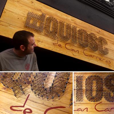 Rótulo para fachada de Restaurante Hamburguesería El Quiosc de Can Carreras