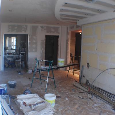 Salón piso Mirasierra. (2008). Fase construcción