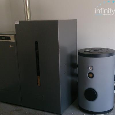 Instalación de caldera de biomasa