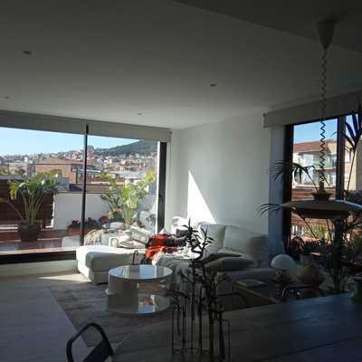 Salon en piso barcelona - DESPUES
