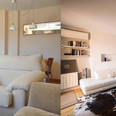 Antes y despues salón vivienda alcobendas