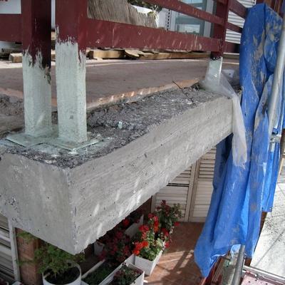 Saneamiento y rehabilitación de balcones