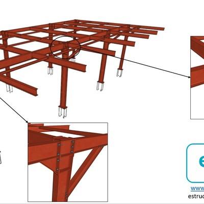 Altillo estructura metalica
